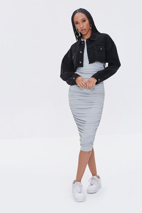 Ruched Bodycon Dress, image 4