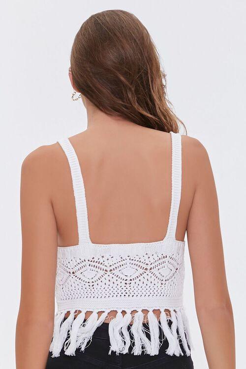 Crochet Fringe Sweater Top, image 3
