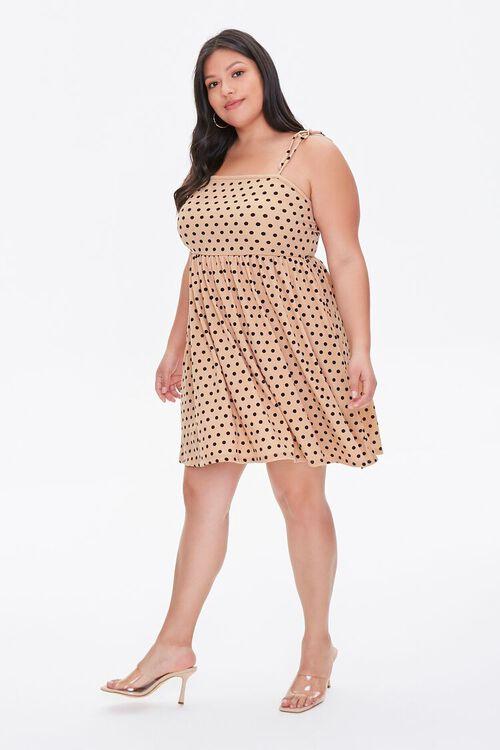 Plus Size Terry Cloth Polka Dot Dress, image 4