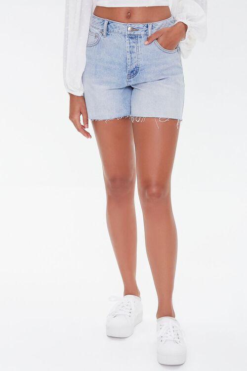 Raw-Cut Denim Shorts, image 2