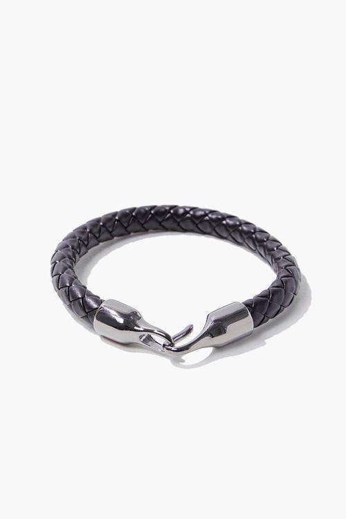 Men Faux Leather Braided Bracelet, image 1