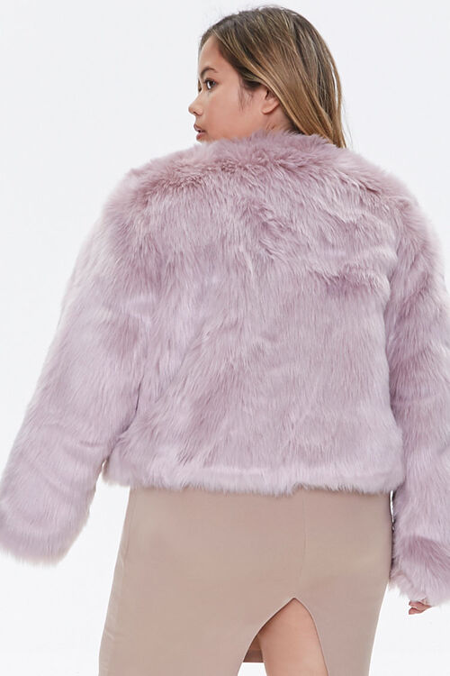 Plus Size Faux Fur Open-Front Jacket, image 3