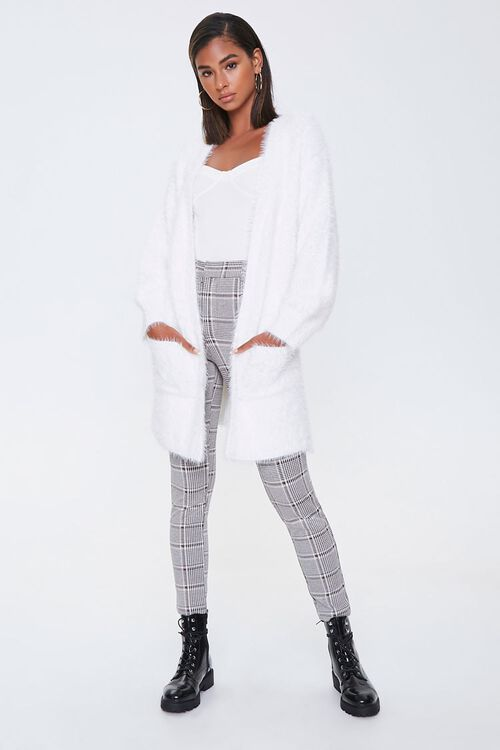 Fuzzy Knit Open-Front Cardigan, image 4