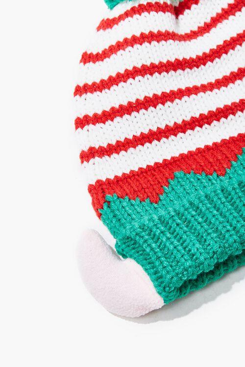 Girls Striped Elf Beanie (Kids), image 2