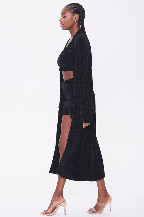 Chenille Longline Cardigan Sweater, image 2