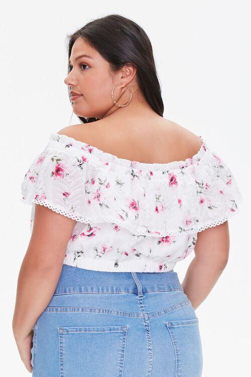 Plus Size Floral Lace Flounce Top, image 3