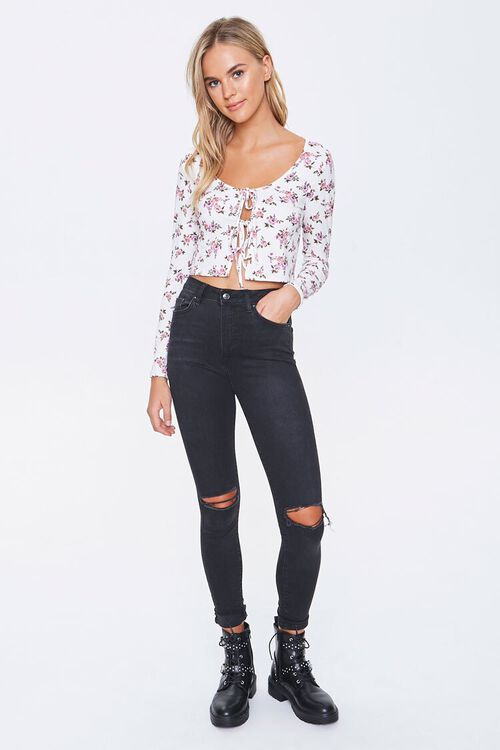 Lace-Up Floral Top, image 4
