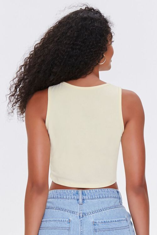 YELLOW/MULTI All You Need Is Love Crop Top, image 3