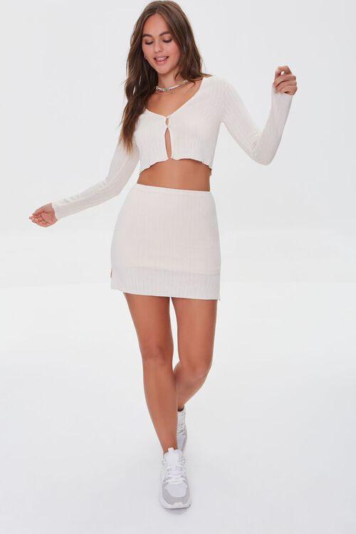Ribbed Crop Top & Mini Skirt Set, image 4