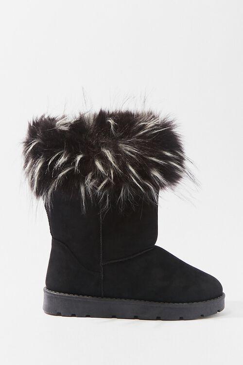 Faux Fur-Trim Ankle Booties, image 1