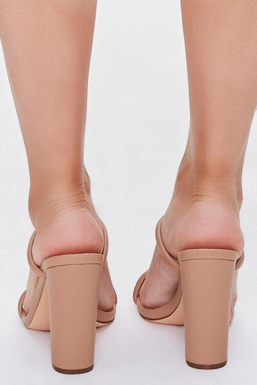 NUDE Faux Leather Block Heels, image 3