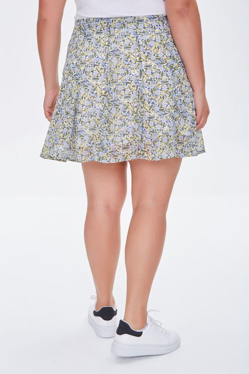 Plus Size Floral Print Mini Skirt, image 4