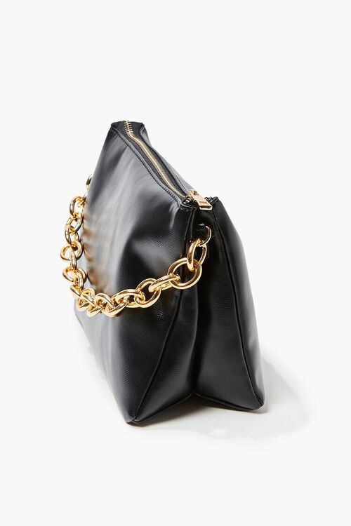 Chain Faux Leather Crossbody Bag, image 2
