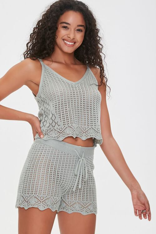 Crochet Cami & Shorts Set, image 1