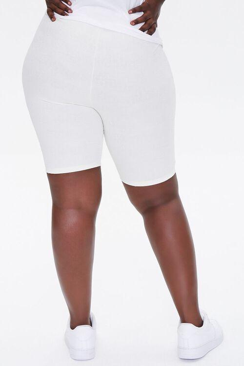 Plus Size Embossed Biker Shorts, image 4