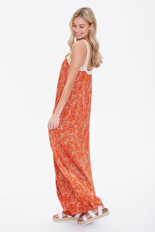 Leaf Print Crochet-Trim Dress, image 3