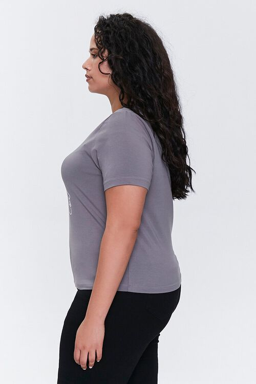 Plus Size Face Graphic Tee, image 2