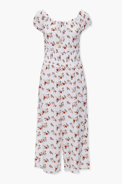 Floral Print Culotte Jumpsuit, image 1