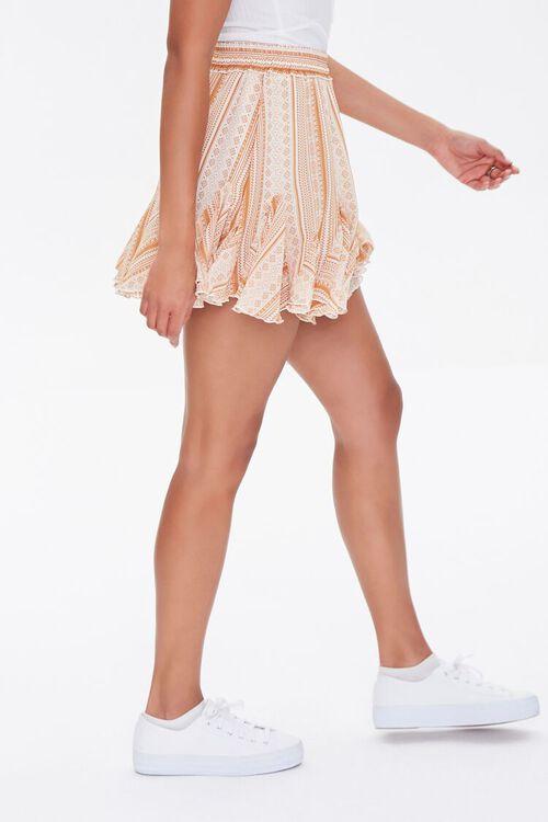 Ornate Print Godet Mini Skirt, image 3