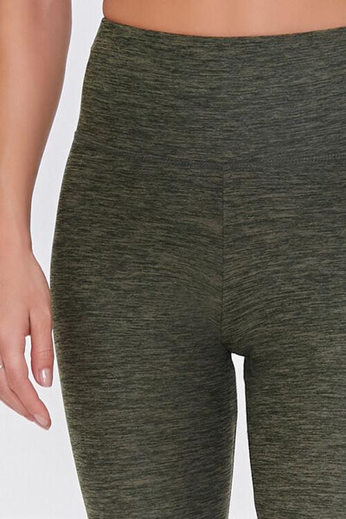 HEATHER OLIVE Active Heathered Leggings, image 5