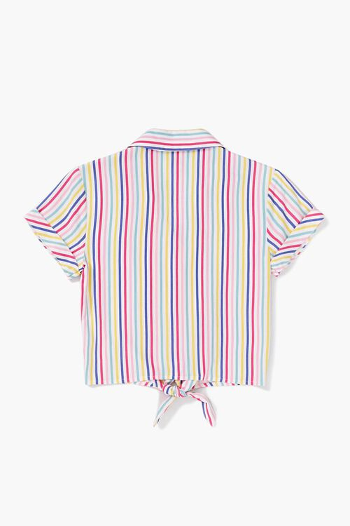 Girls Knotted Striped Shirt (Kids), image 2