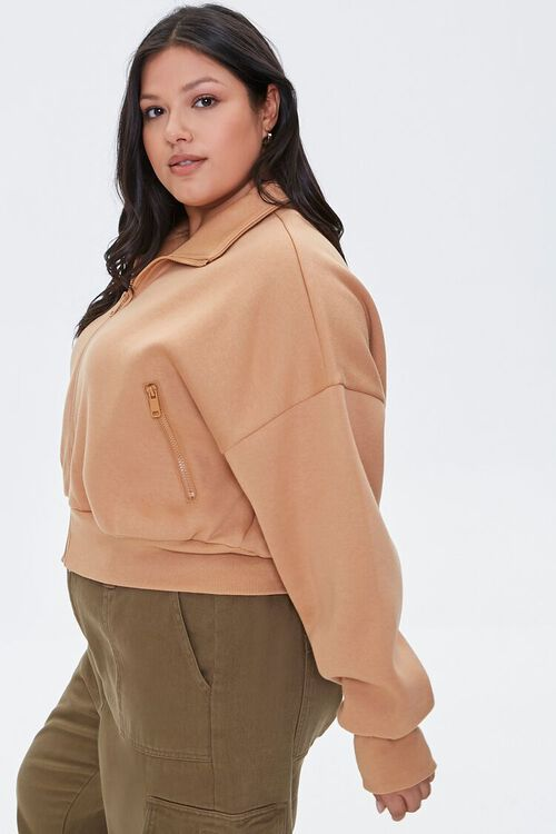 Plus Size Funnel Neck Jacket, image 2