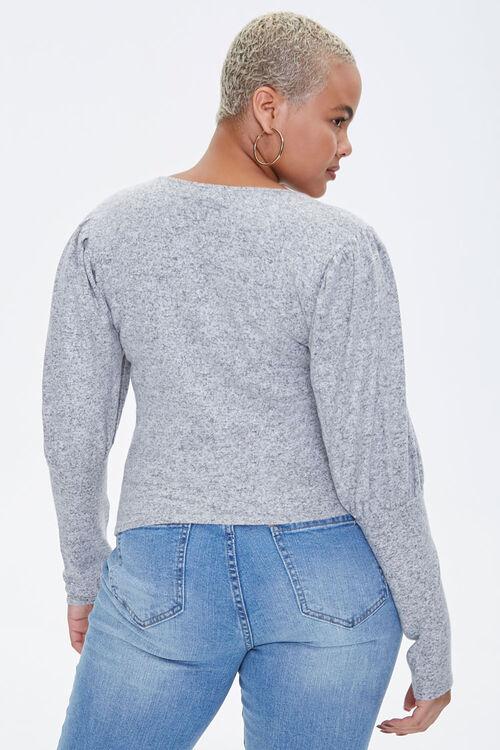 Plus Size Gigot Sleeve Top, image 3