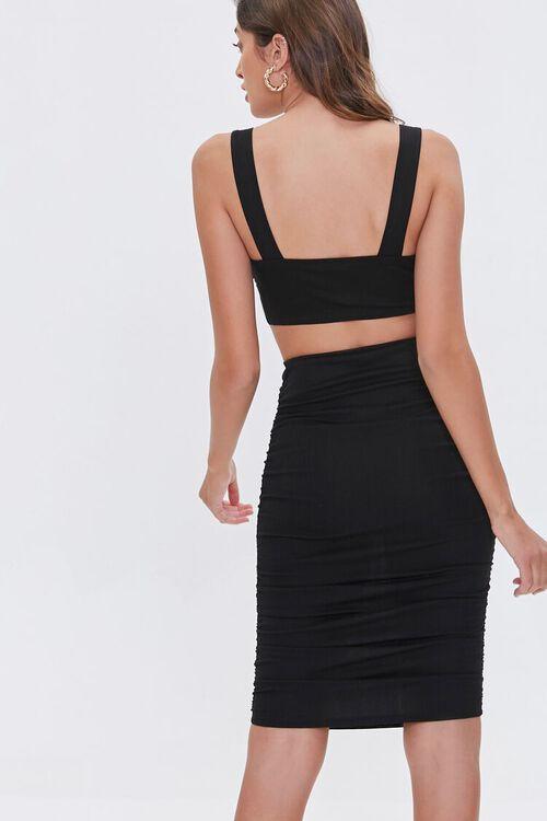 Crop Top & Knee-Length Skirt Set, image 3