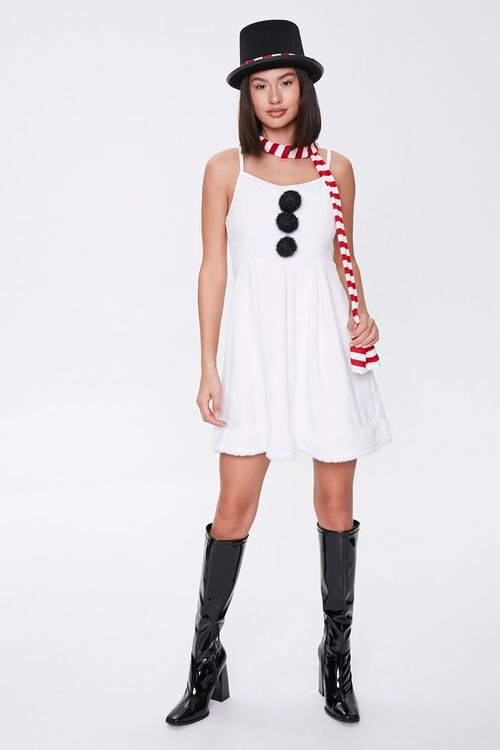 Snowman Holiday Dress Hat & Scarf Set, image 4