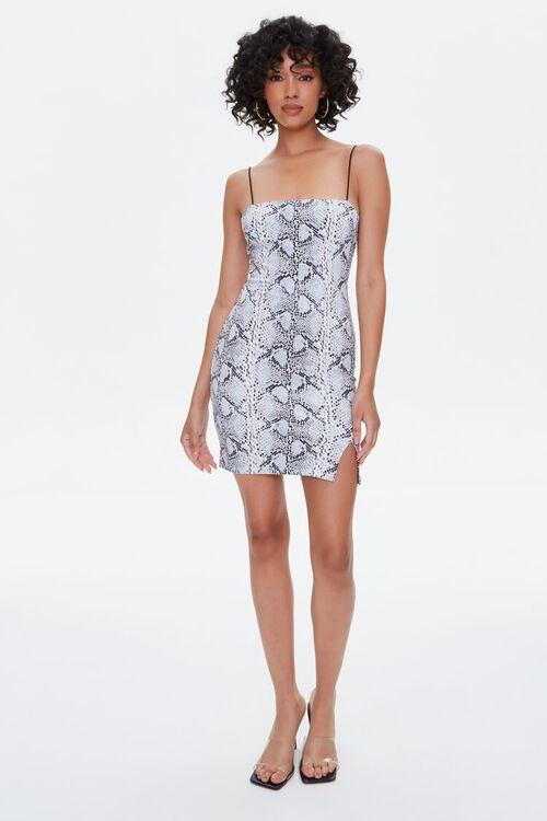 Snake Print Bodycon Mini Dress, image 4