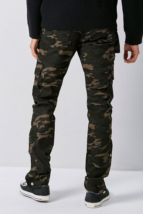 Camo Snap-Button Cargo Pants, image 4