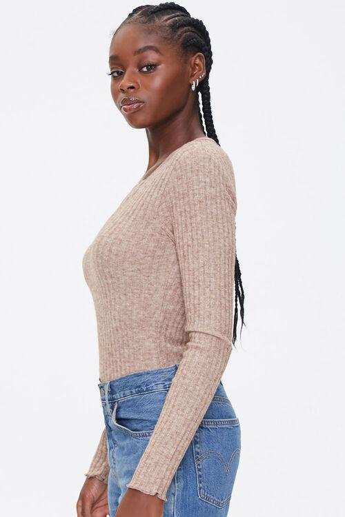 Ribbed Knit Long-Sleeve Bodysuit, image 2