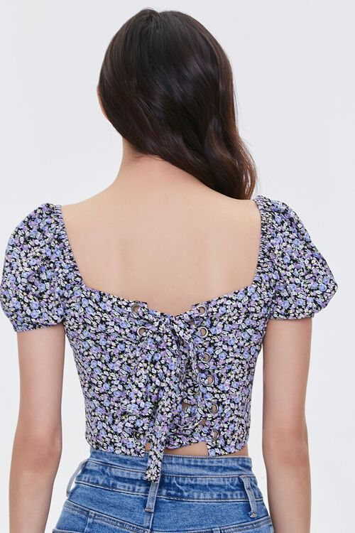 Floral Lace-Back Crop Top, image 4