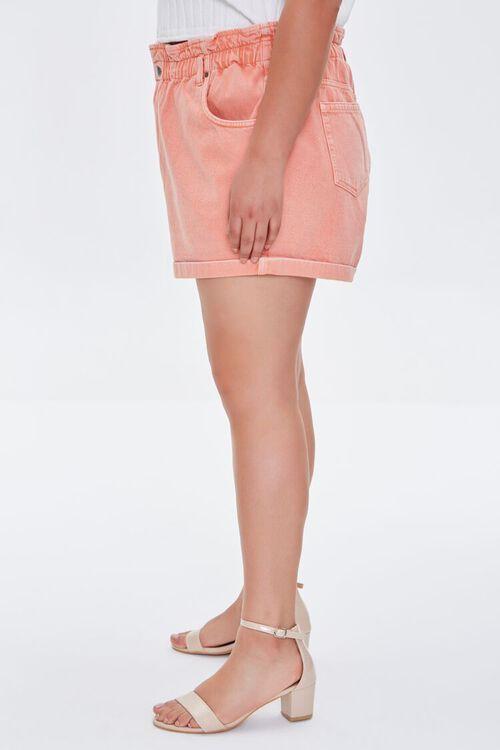 Plus Size Paperbag Denim Shorts, image 3