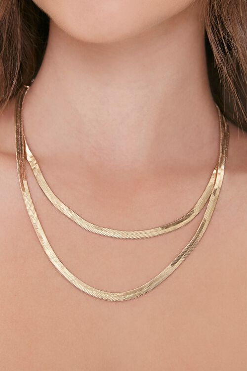 Layered Serpentine Chain Necklace, image 1