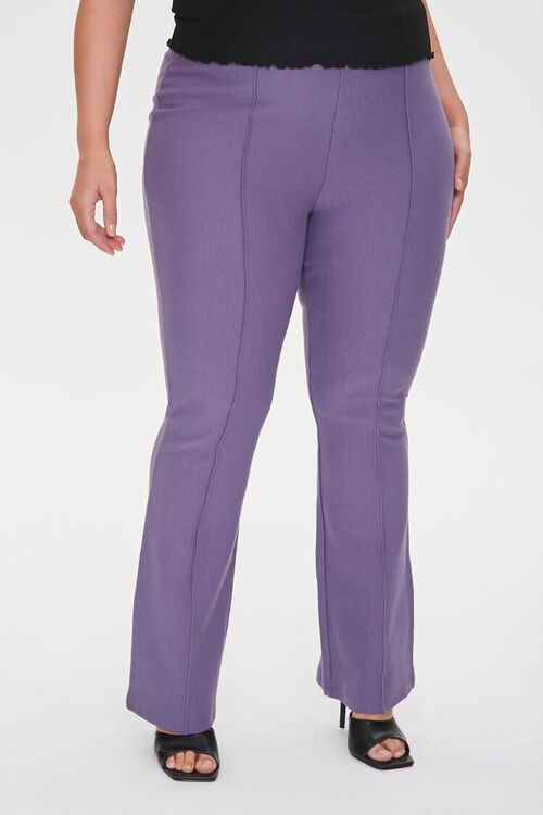 Plus Size Seamed Flare Pants, image 2