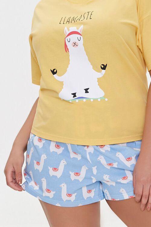Plus Size Llamaste Graphic Pajama Set, image 4