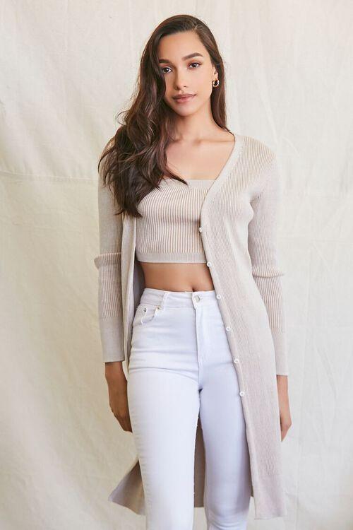 Longline Cardigan Sweater, image 1