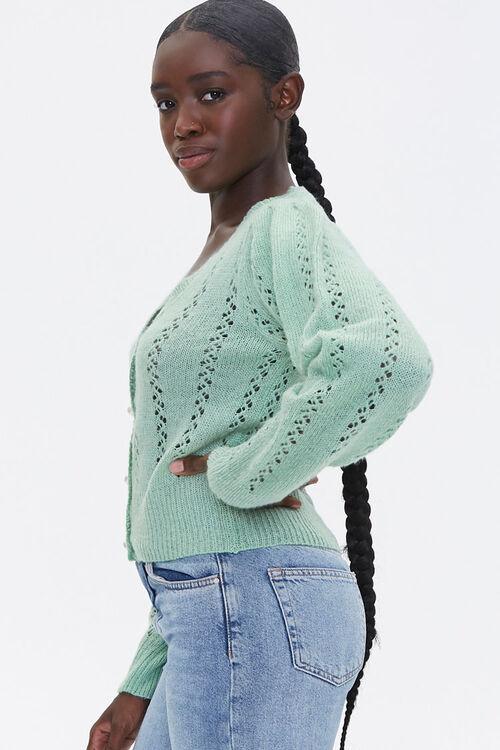 Faux Pearl Cardigan Sweater, image 2