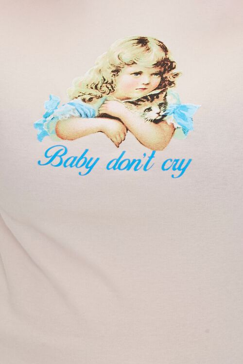Plus Size Baby Dont Cry Graphic Top, image 5