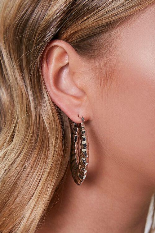 Etched Hoop Earrings, image 1