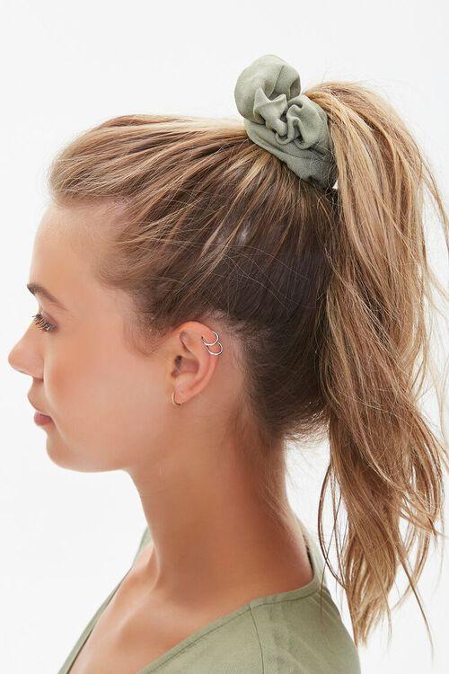 Plunging Smocked-Hem Top & Scrunchie Set, image 5