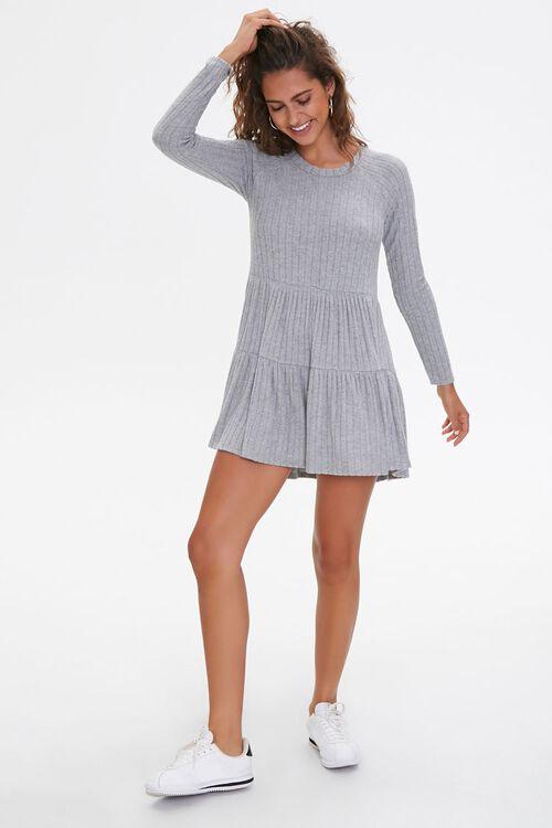 Ribbed Knit Mini Dress, image 4
