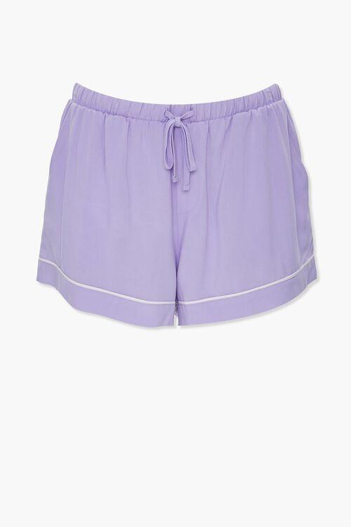 Piped-Trim Shirt & Shorts PJ Set, image 4