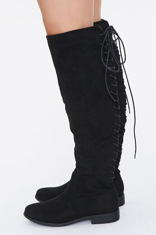 Lace-Up Knee-High Boots, image 2
