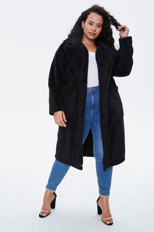 Plus Size Faux Fur Teddy Coat, image 1
