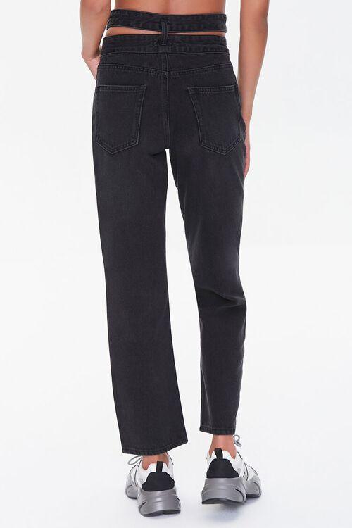 Cutout Straight-Leg Jeans, image 4