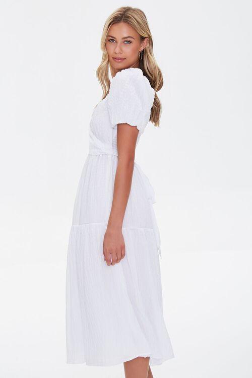 Seersucker Surplice Midi Dress, image 2