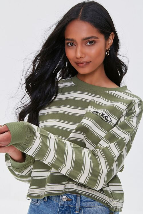 NYC Graphic Striped Pullover, image 1