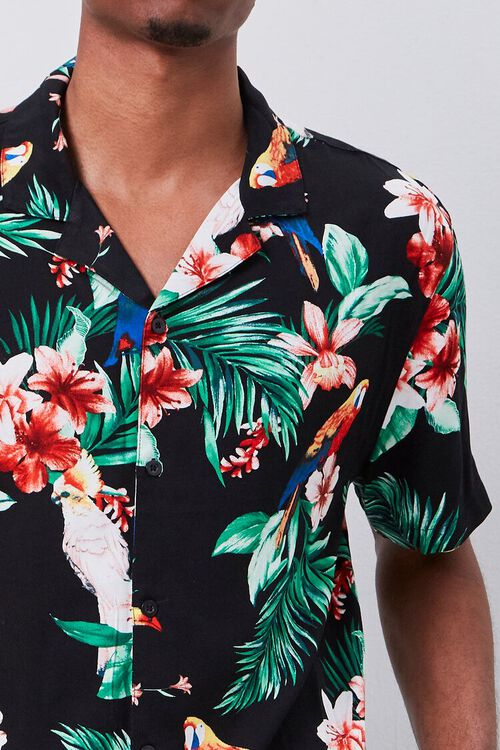 Classic Fit Tropical Print Shirt, image 5